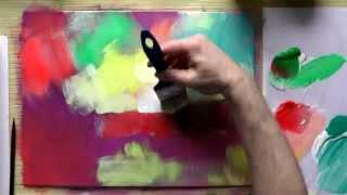 Акрил. Урок живописи.  Новая экспрессия.
