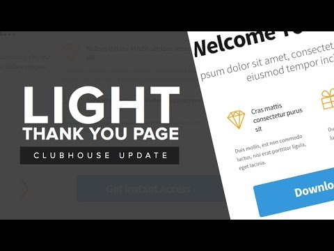 OptimizePress Club Light - Thank You Page Template - YouTube