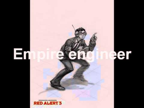 Red Alert 3 Uprising Qoutes: All engineers, Pacifier