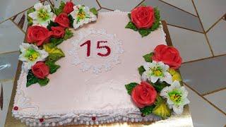 Тортик для любимой доченьки Ниночки