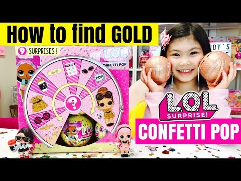 How To Find GOLD LOL SURPRISE CONFETTI POP Balls | Ultra Rare + Rare Series 3 L.O.L. Dolls Tots Hack