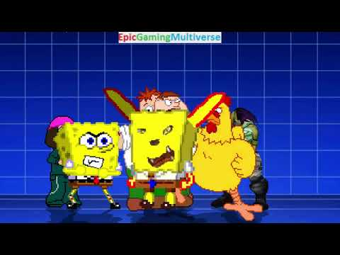 SpongeBob SquarePants And Family Guy Characters VS Smoo In A MUGEN Match / Battle / Fight