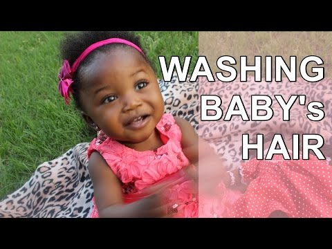 How to Wash Baby's Natural Hair | VEDA 2015 Day 10