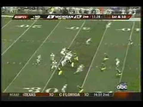 Brady Quinn & Jimmy Clausen vs Michigan