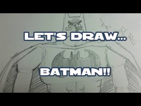 Kid Friendly How to Draw Batman vs Superman Dawn of Justice DC superheros