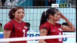 Vietnam vs Thailand  Set 5 - 2013 Asian Women's Club Volleyball Championship