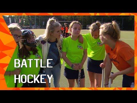 Battle Hockey met Lauren Stam en Caspar van Dijk   ZAPPSPORT