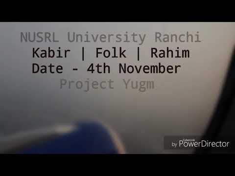 Project Yugm live at NLU RANCHI.