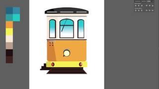 Adobe Illustrator - Drawing Tram Lisbon (Vintage) - Speed Art | Jeff Amin