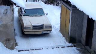 1982 Ford Thunderbird on snow