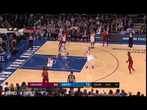 Cleveland Cavaliers vs New York Knicks - Cedi Osman'dan 3 sayılık sayı isabeti