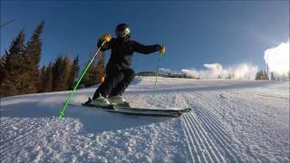 Bulgaria Skiing - Skiing short turns exercise step by step