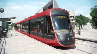 Design tramway ligne Ouest-Est de Nice - Constructeur Alstom - Designer Ora Ïto