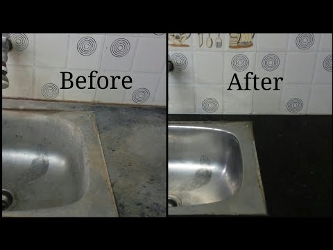 How to clean or remove salt water stains/hard water stains on sink, tap, floor, tiles, wash basin