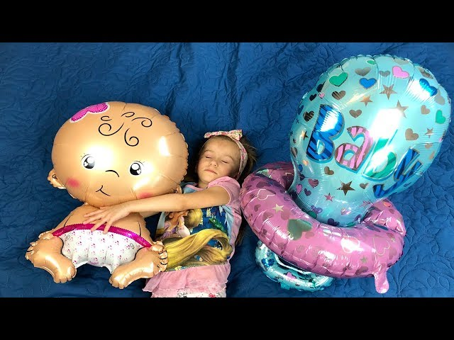 Lika Play with Big BABIES Balloons and SOOTHERS