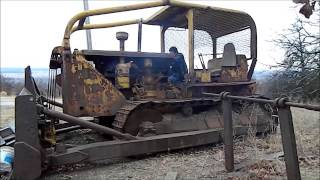 caterpillar D8-2U-6481 first start in 5 yrs.wmv