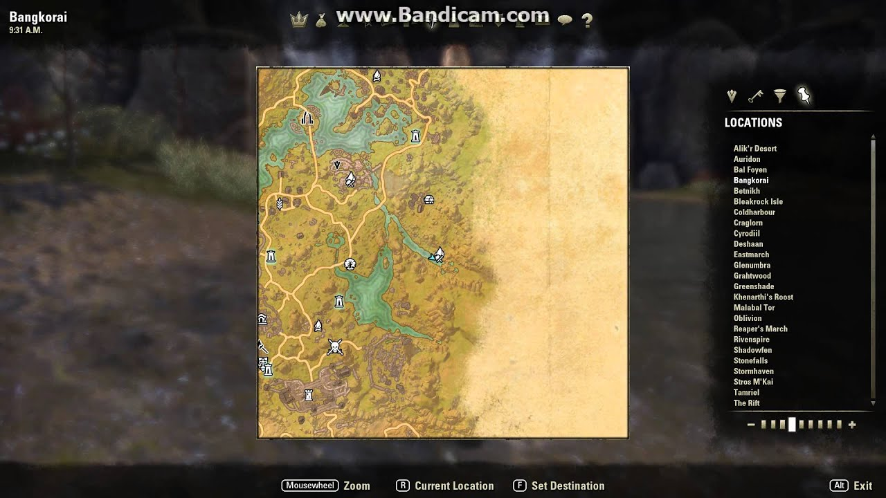 ESO: Bangkorai treasure map III - YouTube