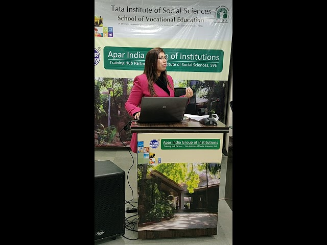 Ms. Surbhi Jain Project Director Apar India talked about what is TATA Institute of Social Sciences