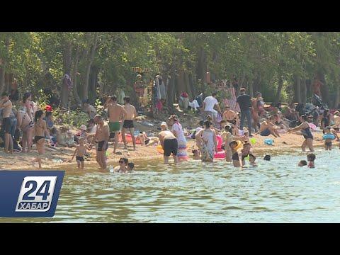 Запрет на купание не останавливает отдыхающих в Бурабае