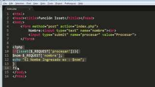 Función Isset en PHP | Isset en PHP | Uso de la Función Isset en PHP | Curso PHP | FACILITO PHP 17