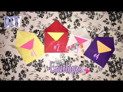 DIY Easy Paper Envelope Tutorial | How To Make A Simple and Cute Envelope!!