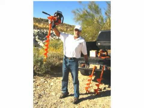 Lewis Multi Drill 4 inch earth auger, nursery tree planting, power fence  post drill