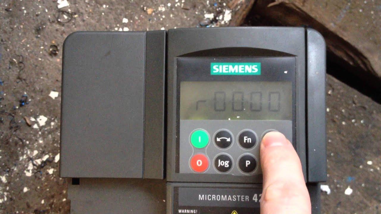 Siemens 420 2 2kW - error F0085