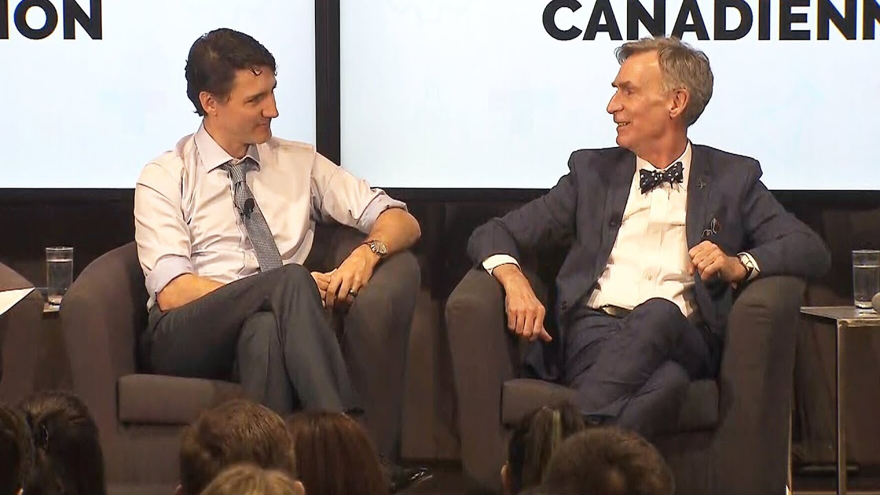 Justin Trudeau chats with Bill Nye the Science Guy