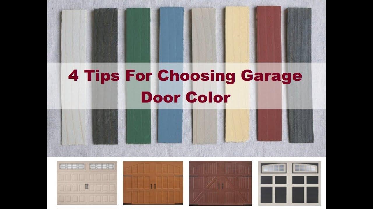 How To Select Right Garage Door Color - YouTube on Garage Door Color  id=21762