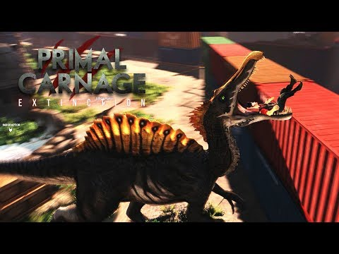 I AM A SPINOSAURUS WHO EATS HUMANS LOL! PRIMAL CARNAGE EXTINTION