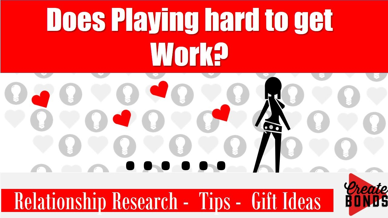 Does playing hard to get work ? Relationship Research