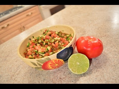 How to Make Tomato & Cucumber Salsa: Cooking with Kimberly