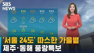 [날씨] '서울 24도' 따스한 가을볕……