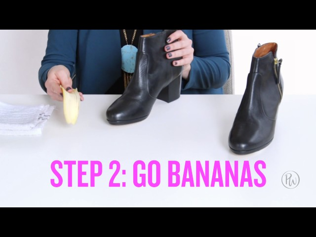 PureWow Presents: How to Use a Banana Peel to Polish Your Shoes