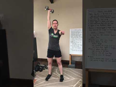 Dumbbell Nancy: Single Arm DB Overhead Squats & Run CFH WOD for March 30, 2020