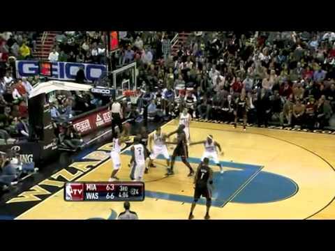 Miami Heat vs Washington Wizards (95 - 94) December 18, 2010