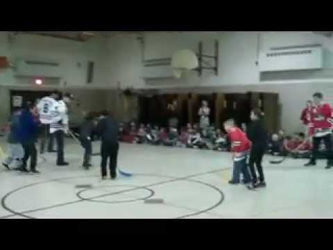 Floor Hockey at Hillman Elementary School