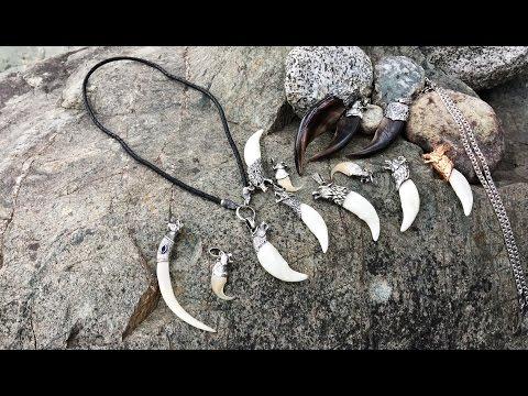 Обзор звериных оберегов Алтайстронг. Клыки волка в серебре, когти медведя и рыси