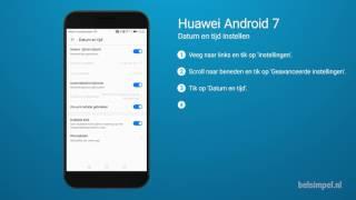 Tips & Tricks - Huawei smartphone: Datum en tijd instellen (Android 7)