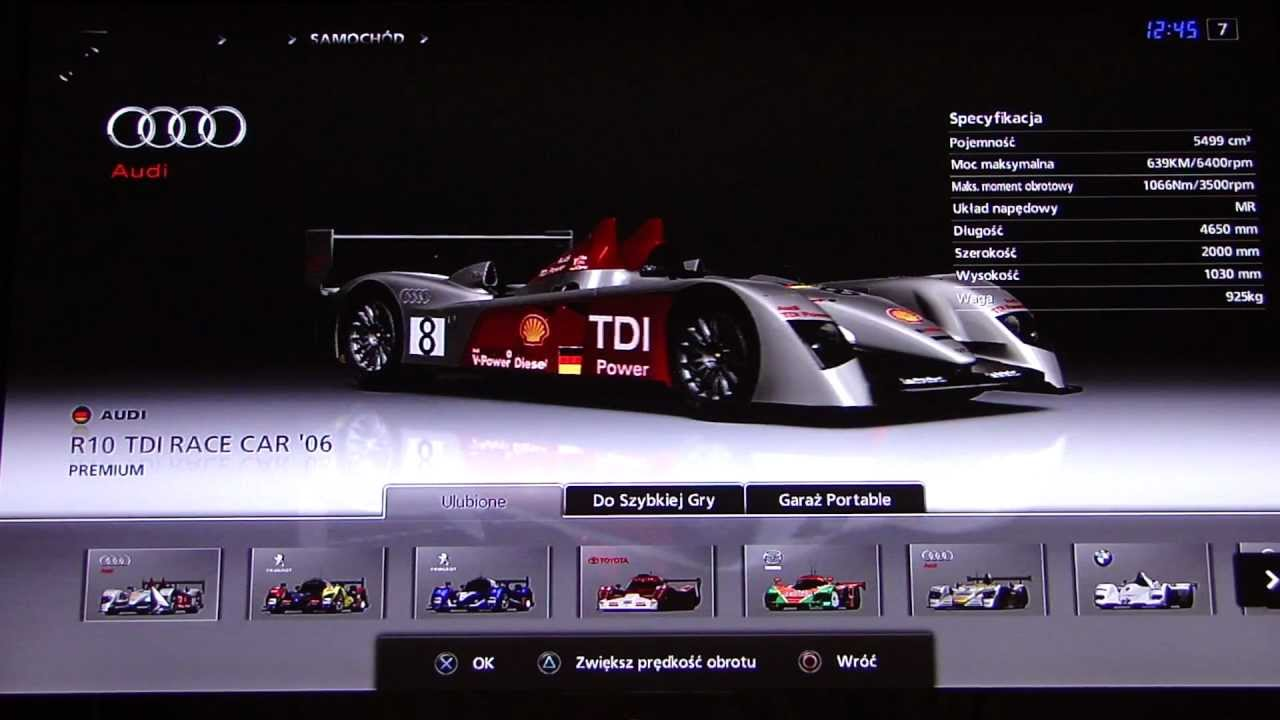 gran turismo 5 le mans prototype car list youtube. Black Bedroom Furniture Sets. Home Design Ideas
