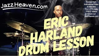*Jazz Drum Lesson* Eric Harland  JazzHeaven.com Video: When in doubt Keep Time