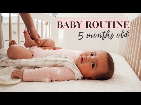 BABY ROUTINE WITH A 5 MONTH OLD | stay at home mom of two