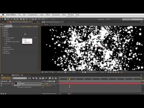 03. Getting Started With Trapcode Particular 2 - Physics: Air
