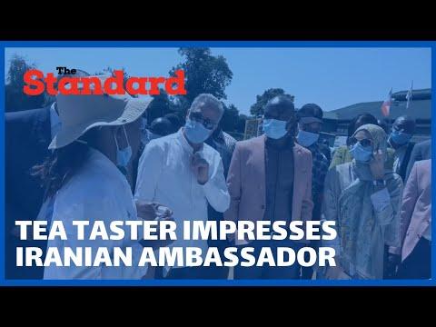 Tea taster impresses Iranian Ambassador Jafar Marmaki with her rare skill