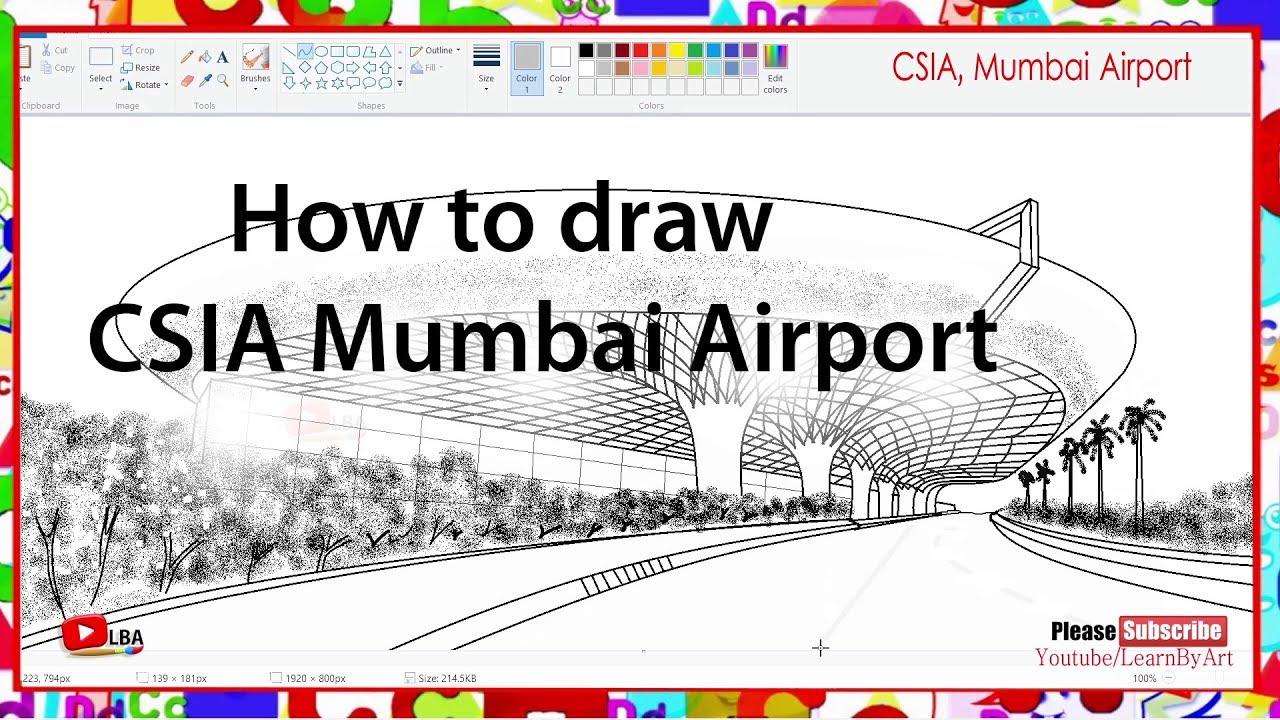 Mumbai Airport Drawing L Learnbyart Youtube