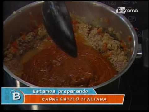 Carne estilo italiana