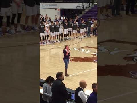 National Anthem - Megan Moriarty - Holy Cross vs. University of New Hampshire