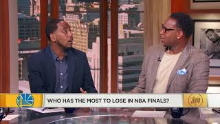 amin elhassan and tracy mcgrady debate who has most to lose in nba finals the jump espn