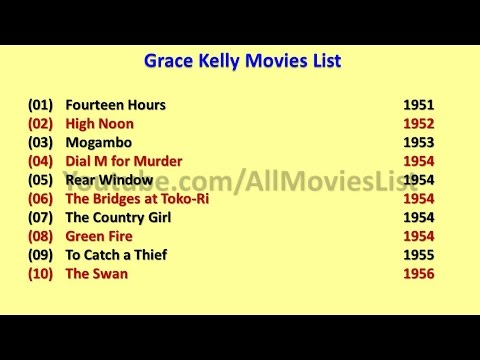Grace Kelly Movies List