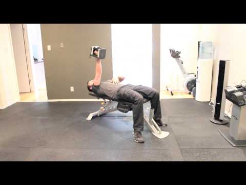How To Do A Single Arm Dumbbell Flat Bench Press
